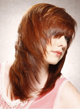 Smooth Amazing Soft Layered Cut Long Straight Wig 100% Human Hair 14 Inches