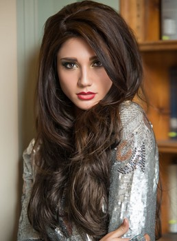 Best Beautiful Smooth Long Loose Wavy Lace Front Wig 100% Human Hair 24 Inches