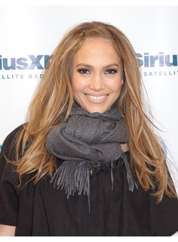 Jennifer Lopez Medium Straight Lace Front Wigs Human Hair 16 Inches