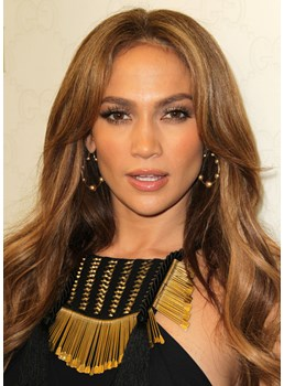 Fascinating Elegant Stylish Jennifer Lopez's Long Wave Full Lace Wig 100% Human Hair 22 Inches