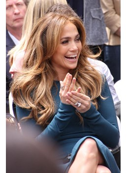 Jennifer Lopez's Fluffy Natural lovely Long Wavy Lace Front Wig 100% Human Hair 20 Inches