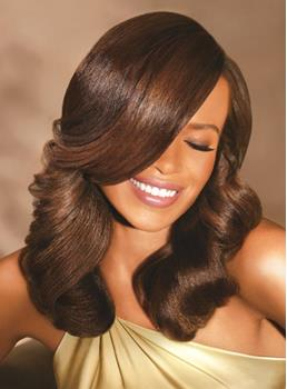 New Fashion Trendsetting African American Hairstyle Medium Big Wavy 100% Human Hair Lace Wig 16 Inches