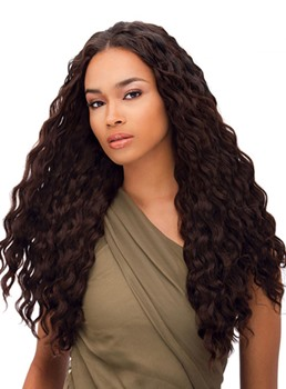 Amazing African American Hairstyle Long Water Wavy 24 Inches 100% Human Hair Lace Wig