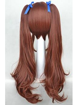 Thick Lovely Long Wavy Cosplay Wig with Blue Bow 30 Inches