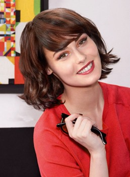 Dramatic New Bob Hairstyle Short Wavy 100% Real Human Hair Wig 10 Inches