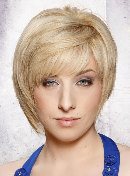 Hot Sale Hip Short Straight Blonde Wigs 100% Real Human Hair for Women 10622947