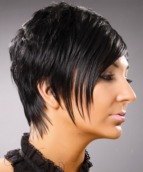 Best Top Quality New Arrival Short Straight Black Hair Full Lace Wig 100% Human Hair