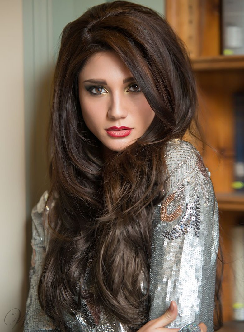 Best Beautiful Smooth Long Loose Wavy Lace Front Wig 100% ...
