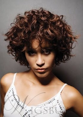 Fashion Tailored Luxury Short Curly 100% Real Human Hair 10 Inches