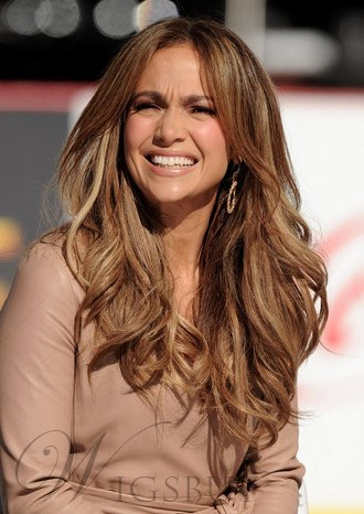 Jennifer Lopez Hairstyle Cheap Fluffy Natural Long Wave Full Lace ...