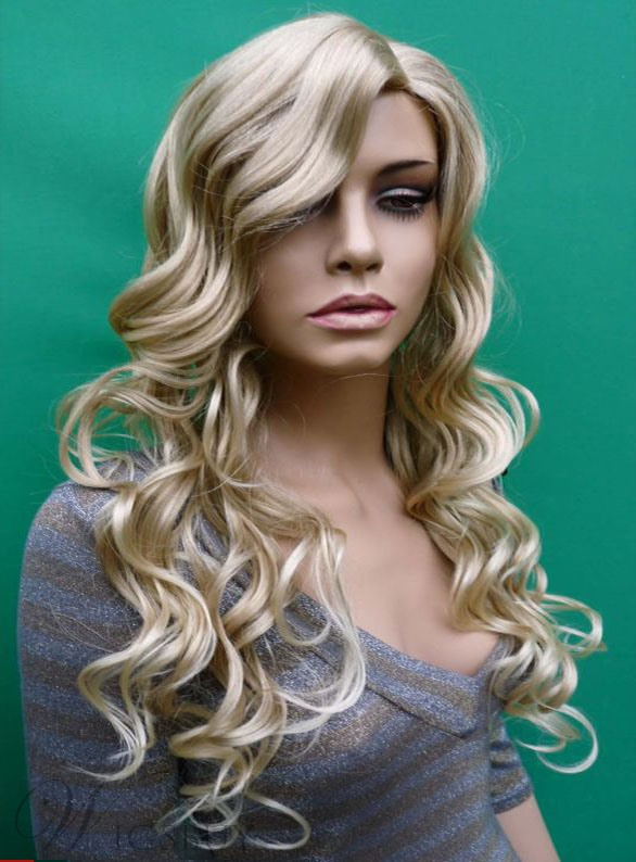 Elegant Extra Long Heat Resistant Synthetic Big Wavy Wig 26 Inches