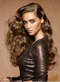 Charming Fascinating 100% Human Hair 22 Inches Body Curly Full Lace Wig