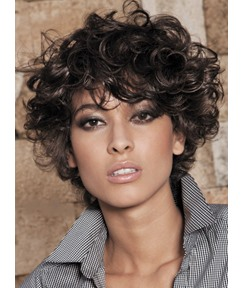 Short Curly Human Hair Full Lace Wigs for Black Women