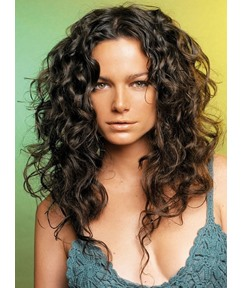Exquisite Attractive Sexy Long Curly Full Lace Wig 100% Human Hair 20 Inches