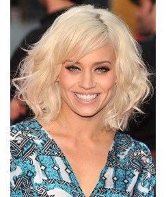 Top Quality Custom Kimberley Wyatt Hairstyle Medium Loose Wavy Full Lace Wig 100% Human Hair 12 Inches