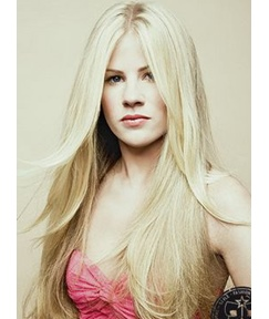 New Arrival Attractive Long Silky Straight Blonde Hair Full Lace Wig 100% Human Hair 22 Inches