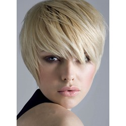 Blonde Short Bob Wigs Monofilament Top Wig