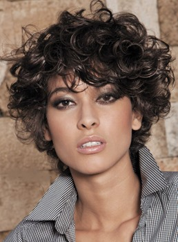 Short Curly 100% Human Hair Full Lace Wigs