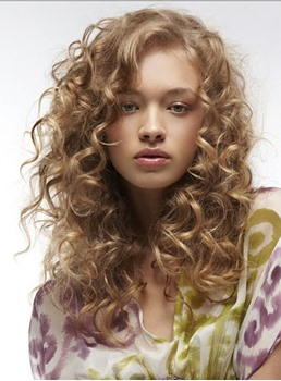 Fascinating Sexy Long Big Curly Blonde 100% Human Hair Full Lace Wig 18 Inches