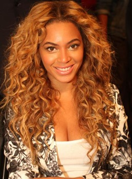 Deluxe Custom Beyonce Hairstyle Long Curly Lace Wig 100% Human Hair 24 Inches