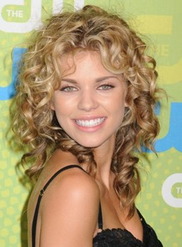 Human Hair 16 Inches Curly Blonde Hair Full Lace Wigs