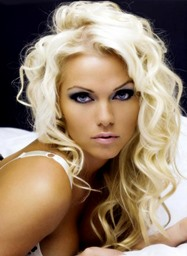 New Arrival Sexy Long Curly Blonde 100% Human Hair Full Lace Wig 16 Inches