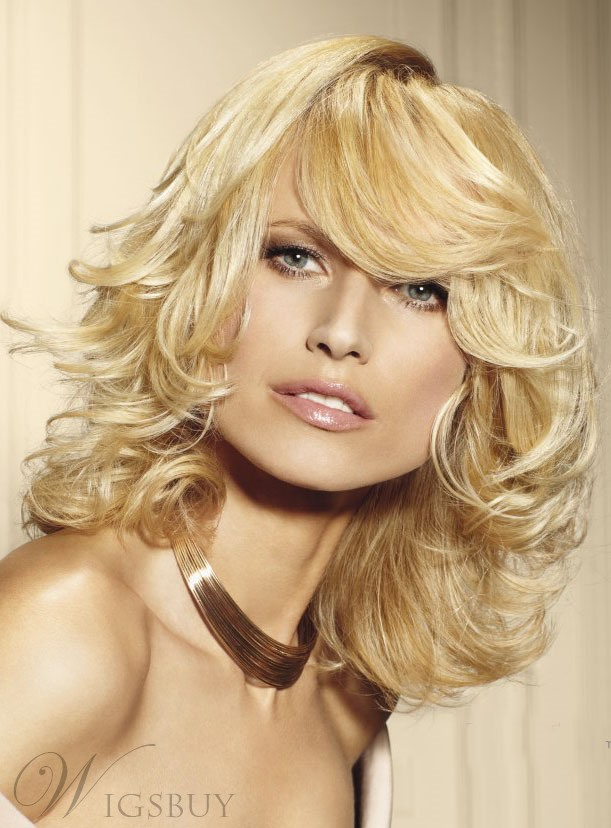 Life Graceful Remy Long Wavy 14 Inches Blonde Wig 100% Real Human Hair