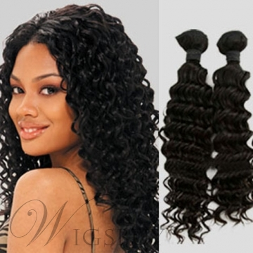 2Packs Curly 100% Human Hair Weave 200g