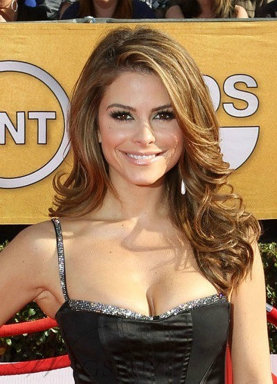 Custom Fashion Maria Menounos Long Hairstyle Body Curly 100% Human Hair 18 Inches Full Lace Wig