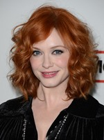 Exquisite Attractive Shoulder Length Curly Red 100% Human Hair Lace Wig 14 Inches