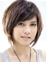 Stylish Oriental Bob Hairstyle Short Straight 100% Human Hair Wig 10 Inches