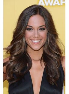 Stylish Deluxe Life Long Wavy Lace Front Wig 100% Human Hair 18 Inches