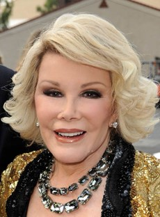 Noble Joan Rivers Short Curly 100% Human Hair Lace Wig 10 Inches