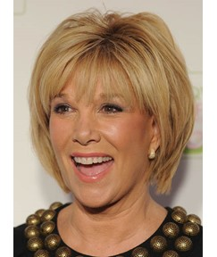 Simple Elegant Joan London Hairstyle Short Straight Blonde 100% Human Hair Wig