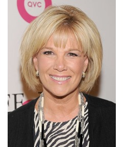Graceful Joan Lunden Bob Hairstyle Straight Blonde 100% Human Hair Wig 8 Inches