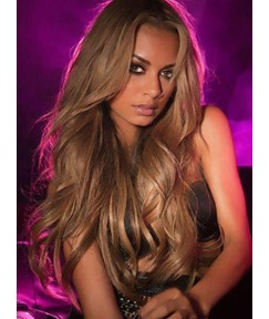Premier Top Quality Long Loose Wavy 100% Human Hair Lace Wig 24 Inches