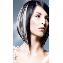 Best Loose Two-Tone Look Short Straight Lace Front Wig 100% Human Hair 10 Inches
