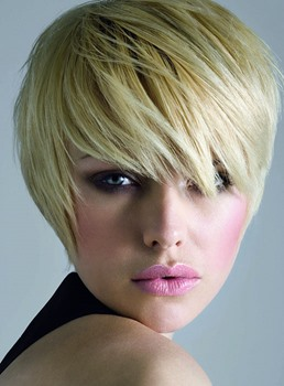 Unisexe Short Cool Layered coupe Blonde 100 % cheveux humains perruque personnalisée