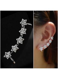 Five-pointed Stars Decorated Alloy Ear Cuff