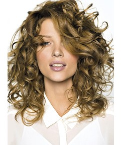 Soft Dramatic Long Curly Blonde 100% Human Hair Full Lace Wig 16 Inches