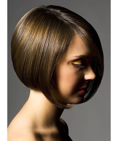 Top Quality Amazing Short Bob Hairstyle Hand-tied Full Lace Wig 100% Human Hair 8 Inches