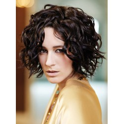Bob Hairstyle Elegant Short Curly Black 100% Human Hair Full Lace Wig 10 Inches