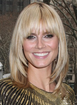 Custom Pretty Heidi Klum Bob Hairstyle Layered Straight Wig 100% Human Hair 12 Inches
