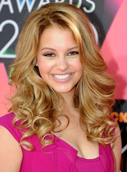 Custom Amazing Celebrity Hairstyle Long Curly 100% Human Hair Full Lace Wig 18 Inches