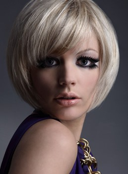 Lovely Carefree Short Bob Hairstyle 100% Human Hair Wig 8 Inches
