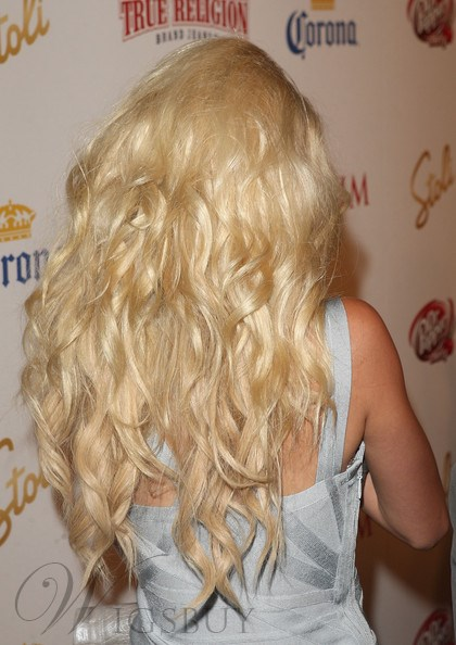 Classical Boutique Attractive Long Curly Full Lace Wig 100% Human Hair 20 Inches