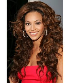 Beyonce Hairstyle Boutique Fascinating Long Curly Lace Front Wig 100% Human Hair 24 Inches