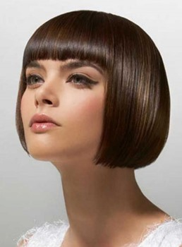 High Quality Well-designed Short Straight Bob Hairstyle 8 Inches 100% Human Hair Wig