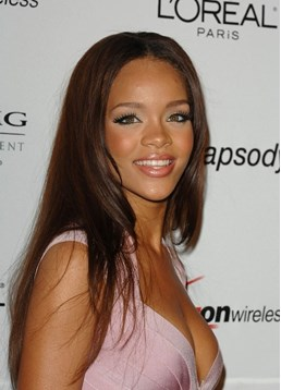 Rihanna Graceful Premier Natural Long Straight Lace Front Wig 100% Human Hair 20 Inches