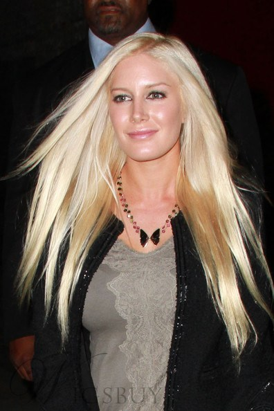 Attractive Pretty Sweet Heidi Montag Long Straight Blonde Lace Front Wig 100% Human Hair 24 Inches